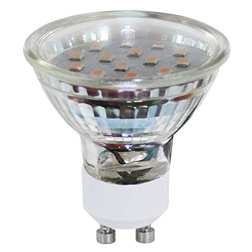 EGLO LED GU10 Lampe 2er-Set, 2 LED Spots, Spots LED Set, je 3 Watt (entspricht 23 Watt), 240 Lumen, GU10 LED warmweiß, 3000 Kelvin, LED Leuchtmittel, LED Spot GU10, Ø 5 cm
