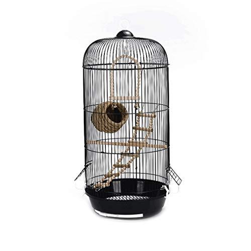 NYKK Small Bird Cage/Cottages Bird House Classic Round Dome Bird Caged Parakeet Wild Bird Sparrow Bird Canary Bird Cage Height 74cm (black) bird cage/Nest Box Birdhouse Birds