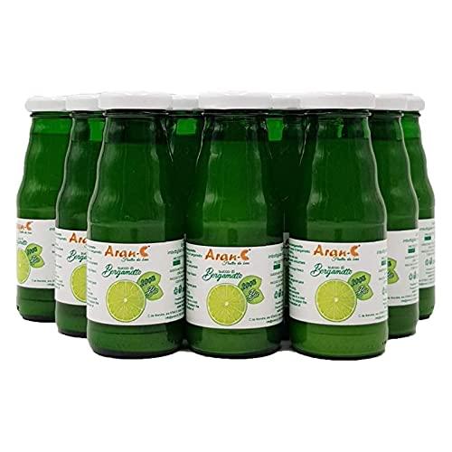Spremuta di Bergamotto Bio Calabrese 100% Succo Puro Bevanda Senza Zuccheri Aggiunti Senza Solfiti Senza Conservanti (12 bottiglie 200 ml)