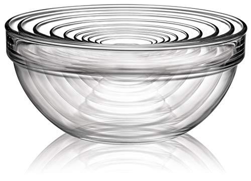 Luminarc Stackable Bowl 10-Piece Set, Glass, 1, Clear