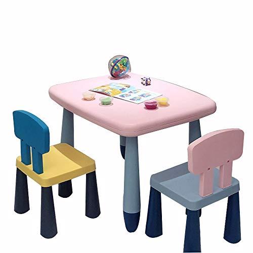 Así que envíe las heces Brisk - Juego de Mesa Y Silla for Niños Juego de Taburetes de Escritorio Simple Learn/Eat/Draw A Small Table for Jardín de Infantes/Sala de Estar/Dormitorio/Sala de Jue