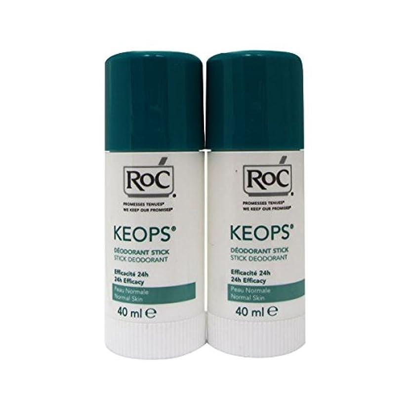 病なバッジ偉業Roc Keops Deodorant Stick Soft Sweating 2x40ml [並行輸入品]