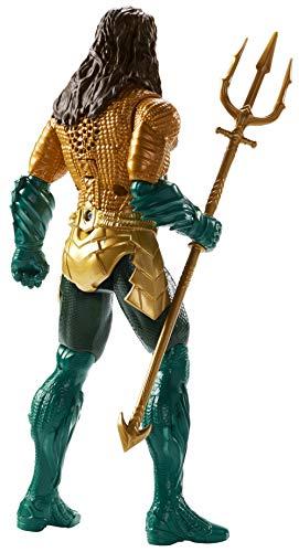 Mattel GmbH fxf67DC Aquaman Deluxe Figura con luz y sonido, joven, 30cm 2
