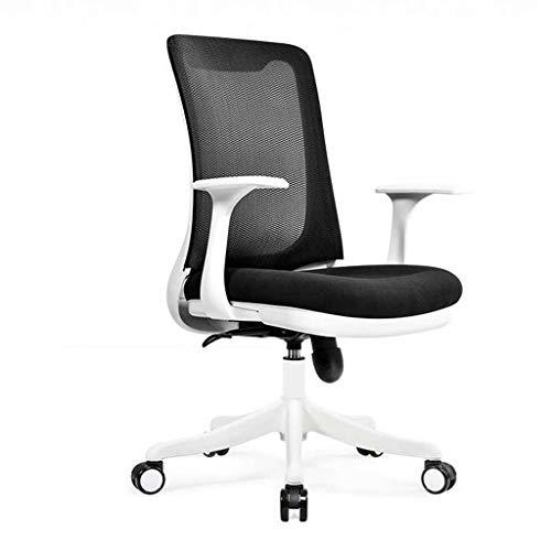 JINPENGRAN Silla giratoria Silla ergonómica de Muebles de Oficina Ordenador con apoyabrazos de Metal Oficina ángulo Ajustable para sillas de Inicio