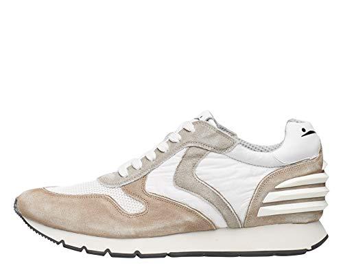 Weiße Gardine Liam Power-Sneakers aus Wildleder im Vintage-Stil und Nylon, Weiß - weiß - Größe: 46 EU
