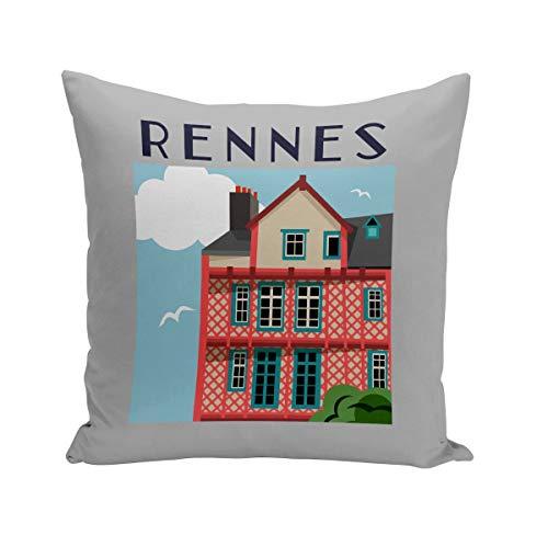 Fabulous Coussin 40x40 cm Rennes Architecture France Ville Moyen-Age