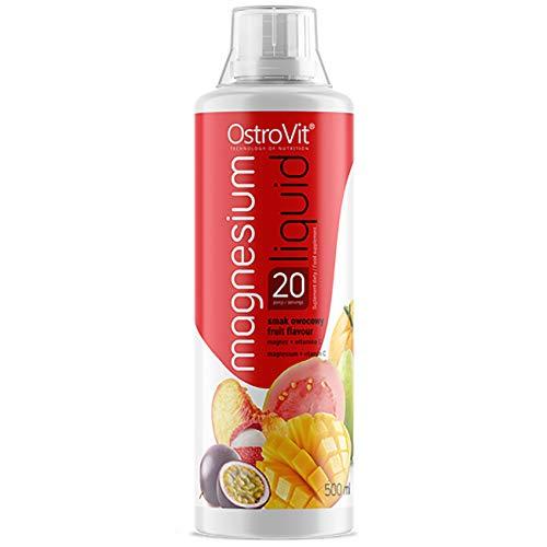 OstroVit Magnesium Liquid - 1 paquete x 500 ml - Con adición de vitamina C - Con jugos de frutas naturales - Fuerte fuente de antioxidantes (Multi Fruits)