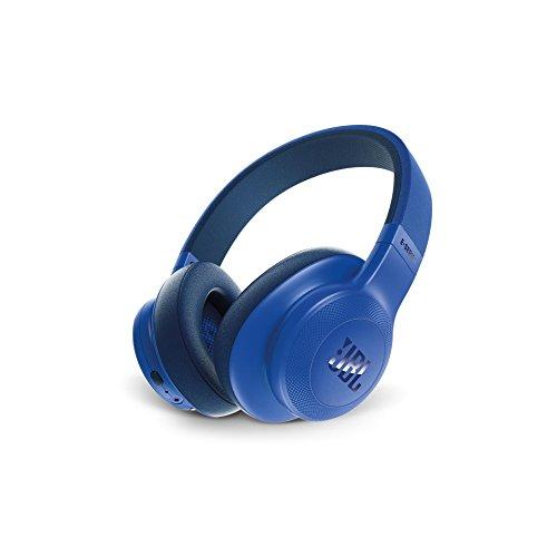 JBL E55BT - Auriculares bluetooth supraaurales plegables con cable y control remoto universal - Batería de hasta 20h - Azul
