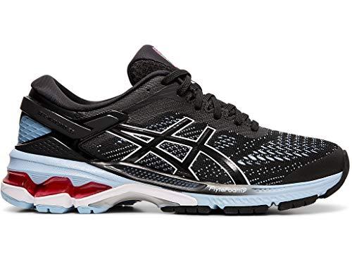 ASICS Women's Gel-Kayano 26 Running Shoes, 8.5M, Black/Heritage Blue