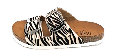 Ovye GSanna Sandale Pferd Zebra Doppelschnalle W - Schuhgröße 38 EU Farbe Zebra