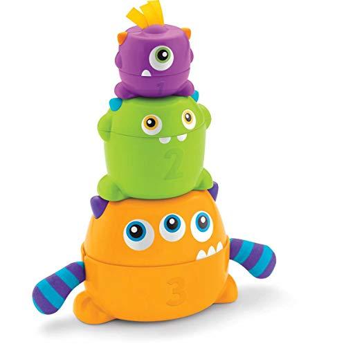Fisher-Price Mes Monstres Gigognes jouet bébé formes colorées à empiler, 6 mois et plus, FNV36