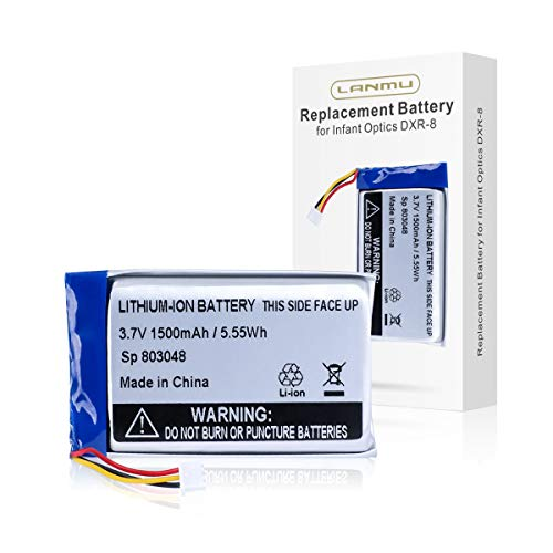 LANMU Replacement Sp 803048 Battery Compatible with Infant Optics DXR-8 Baby Monitor (Monitor Unit)