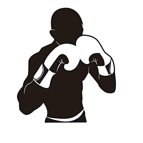 Boxhandschuh Aufkleber Kick Boxer Spiel Auto Aufkleber Free Combat Poster Vinyl Stürmer Wandtattoos Dekor 58x67CM
