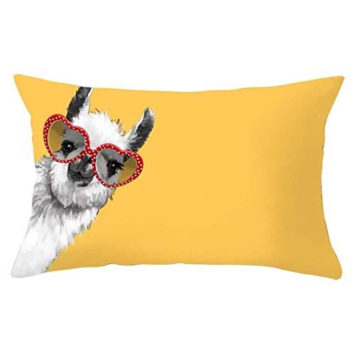 JONJUMP Funda de almohada amarilla geométrica sofá sala dormitorio oficina rectángulo funda de cojín moda decoración del hogar