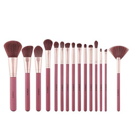 Beauté Pinceau De Maquillage, Pinceau De Fard À Paupières Foundation Blush, Ensemble D'outils De Beauté 15 Pièces Ensemble Complet d'outils