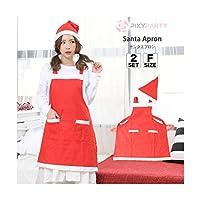 PixyParty(ピクシーパーティー) Xmasコスチューム サンタエプロン サンタコス 大人サンタ