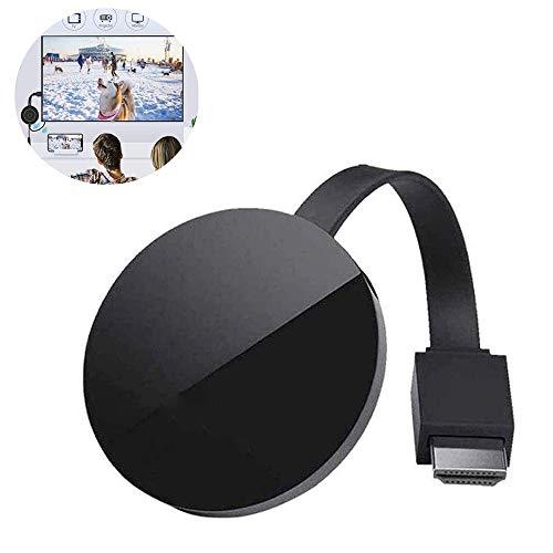 xxz Drahtloser HDMI-Displayadapter, 4K Ultra HD-WLAN-Streaming-Videoempfänger, Unterstützung von Airplay DLNA, kompatibel mit iOS- / Android-Smartphones, schwarz
