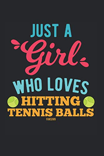 Just A Girl Who Loves Tennis: Graph Paper Journal 6x9 - 120 Pages