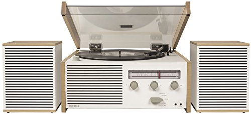 Crosley Switch II Belt-Drive Turntable with Bluetooth, Am/FM Radio, Aux-in, and Speakers