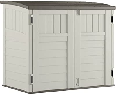 Amazon Com Rubbermaid Outdoor Split Lid Storage Shed 18