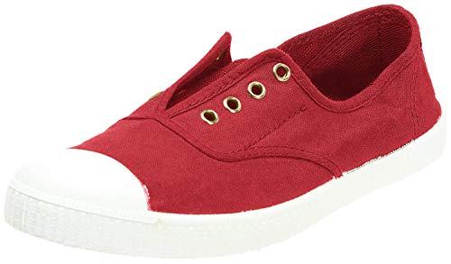 victoria Unisex-Erwachsene Inglesa Elástico Tintada Puntera Sneaker, Rot (Rojo), 37 EU