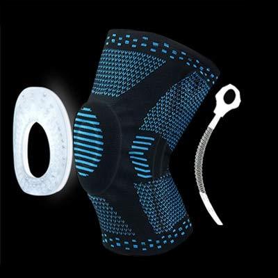 1 Rodilleras de compresión de Baloncesto de Primavera con Silicona - HX051 Azul, S