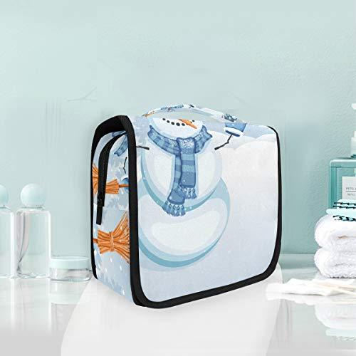 LUPINZ Snow Man avec Yellowbird Trousse de toilette de voyage pour salle de bain Sac de rangement pour cosmétiques