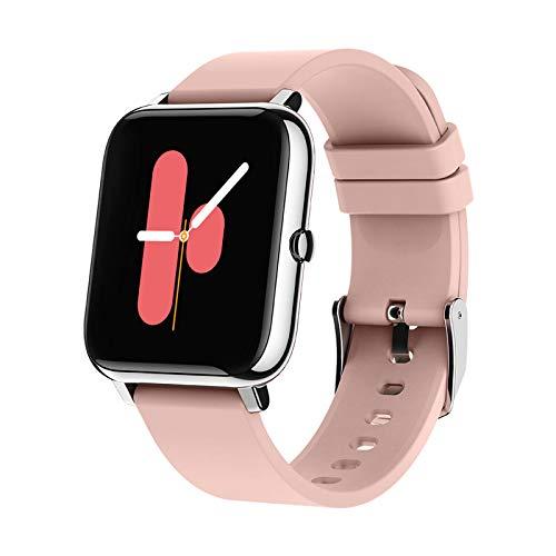 joyliveCY SqaFiit Smartwatch mit Pulsmesser, Fitness Armbanduhr mit Blutdruck Blutsauerstoff Schlafen, Fitness Tracker Schrittzähler Kalorien Stoppuhr Wecker Telefon SMS Anruf für Damen Herren