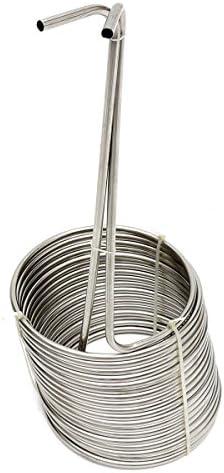 Raffreddamento Coil tubo tubo in acciaio INOX Faway super efficace raffreddamento Coil Home Brewing Wort Chiller 2