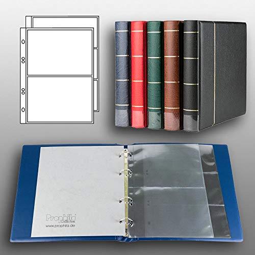 Prophila Kobra Banknoten-Album (blau) mit 20 Hüllen für 50 Banknoten