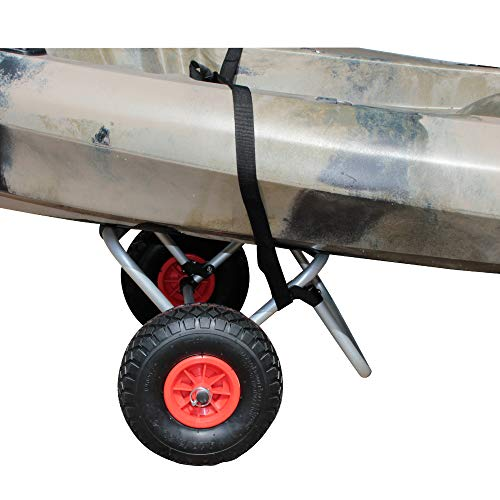 BKC UH-KC271 Two-Wheeled Cart for Kayaks, Stand Up Paddle Boards, Canoes - Easy Overland Transport at The Lake, Beach, or Reservoir by Brooklyn Kayak Company