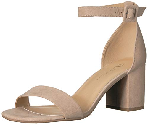 CL by Chinese Laundry Women's Jody Heeled Sandal, Nude Suede, 8 M US