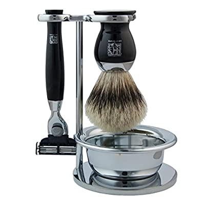 Geo F Trumper Chrome Shaving Stand with Shaving Soap Bowl (Stand & Bowl Only)