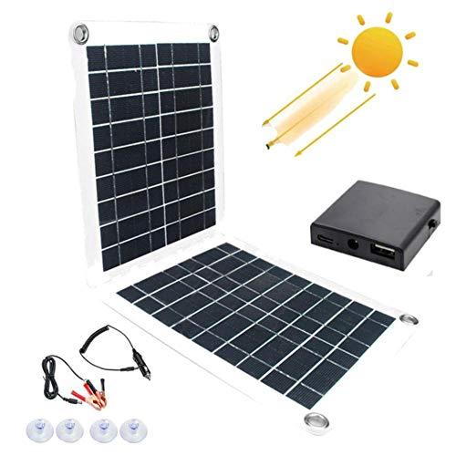 Ablerfly 60W Solarpanel Kit, Dual USB Solarpanel Solarladeregler Batterieregler Für Boot Car Home