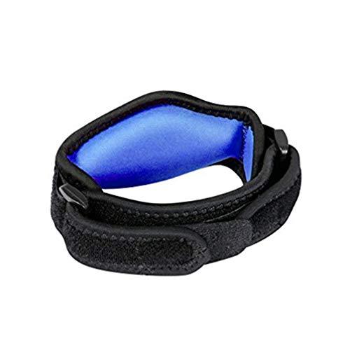 Brazalete de codo Accesorios deportivos Almohadilla de compresión EVA Unisex Confort ajustable Antebrazo Equipo de ejercicios sin dolor(Azul)
