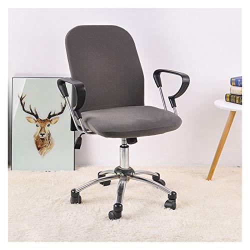 WQAZ Stuhlbezug Bürostuhlabdeckung Spandex-Plaid-Computer-Sitz Stretch-Sitz-Fall 2-teilweise abnehmbar und waschbar Polyestermaterial (Color : Fossil, Specification : Universal Size)