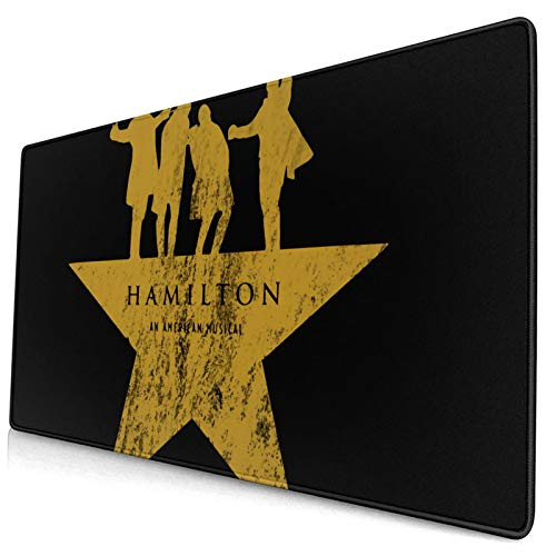 Mousepad Hamilton Musical Gaming Mouse Pad Rectangle Non-Slip Rubber Mouse Pads Mat for Computers Laptop Office Accessories Desk 15.8 X 29.5 in
