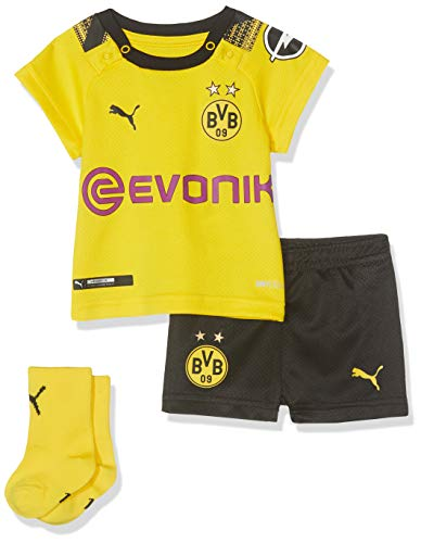 PUMA Kinder BVB Home Babykit Socks Evonik with OPEL Logo Trainingsanzug, Cyber Yellow Black, 62