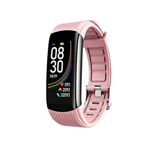 XUEXIU Smart Band Fitness Smart Watch Sport Pulsera Inteligente Pulsera Cardíaca Monitor De Presión Arterial Monitor De Salud (Color : Pink)