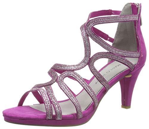 MARCO TOZZI Damen 2-2-28373-22 Geschlossene Sandalen, Pink (Fuxia Comb 540), 37 EU