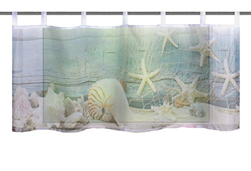 Home fashion MUSALIA, polyester, blauw, 45x120 cm