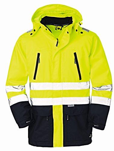 4 Protect waarschuwingsjack DETROIT weerbescherming regenjas XXL geel/blauw