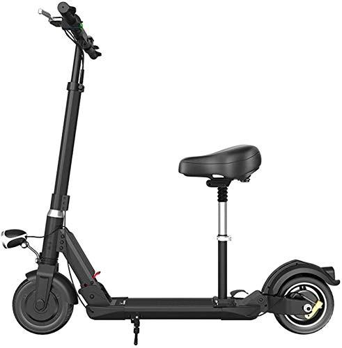 RDJM Bici electrica Bicicletas eléctricas rápidas for adultos Kick Scooter eléctrico portátil con asiento desmontable, 350W sin escobillas del motor, a 30 km y alcance máximo, Velocidad máxima 25 kilo