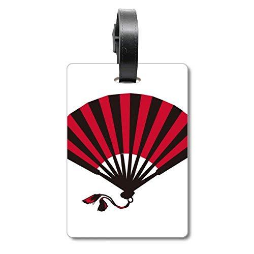Etiqueta de identificación de turista, Color Rojo y Negro japonés