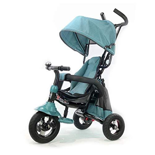 YETC Opvouwbare kinderdriewieler lichtgewicht kinderfiets kinderwagen draagbare baby peuter trolley