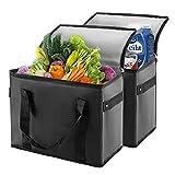 Bolsas De Picnic de 2, Reutilizable Bolsa Nevera,Bolsa De Hielo Grande,bolsas de compras plegables para mantener la comida caliente o fría