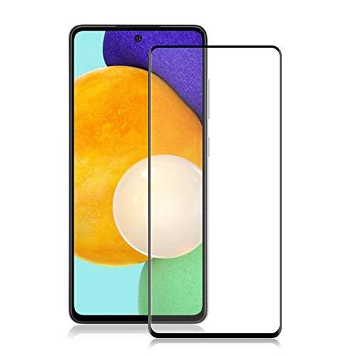 ROVLAK Protector de Pantalla para Samsung Galaxy A52 5G Full Coverage Protector Samsung Galaxy A52 5G Cristal Templado Vidrio 9H Screen Protector para Samsung Galaxy A52 5G-Negro