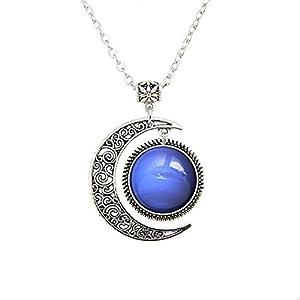 Halskette mit Anhänger, Galaxie-Schmuck, Quecksilber, Venus, Erde, Mars Jupiter, Saturn, Neptun, Urauns, Pluto, Planeten, Geschenke