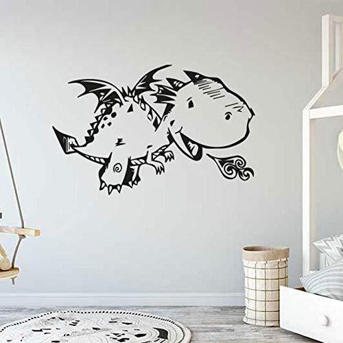 Dibujos animados Fly Dragon Spitfire lindo dinosaurio monstruo Animal vinilo pared pegatina niño niños guardería dormitorio sala de estar decoración del hogar Mural