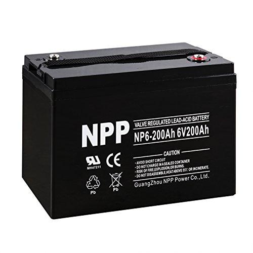 NPP 6V 200 Amp AGM Battery